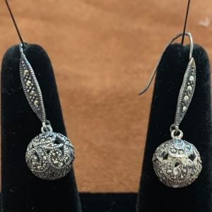 Earrings Sterling Silver and Marcasite